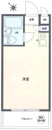 千代田区神田神保町3丁目 区分マンション-間取り