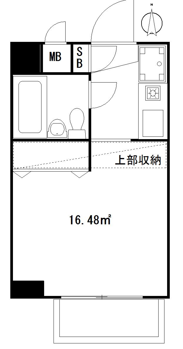 台東区元浅草3丁目 区分マンション-間取り