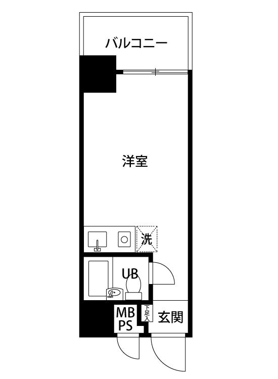 中央区日本橋浜町2丁目 区分マンション-間取り