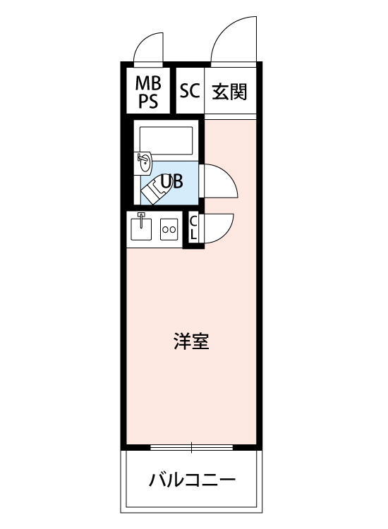 台東区入谷1丁目 区分マンション-間取り