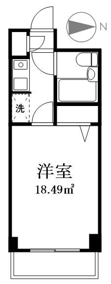 墨田区本所4丁目 区分マンション-間取り