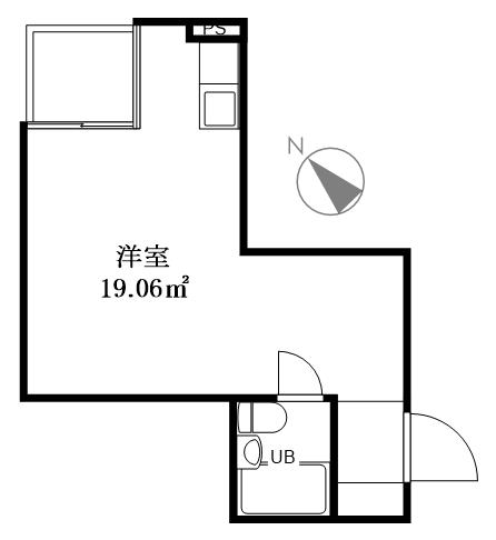 港区赤坂6丁目 区分マンション 2階-間取り