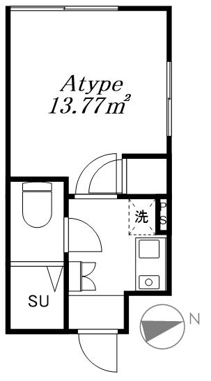 新宿区大久保2丁目 一棟アパート-間取り