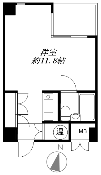 渋谷区千駄ヶ谷5丁目 区分マンション-間取り