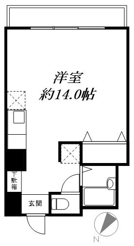 品川区荏原4丁目 区分マンション-間取り