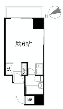 横浜市鶴見区市場富士見町 区分マンション-間取り