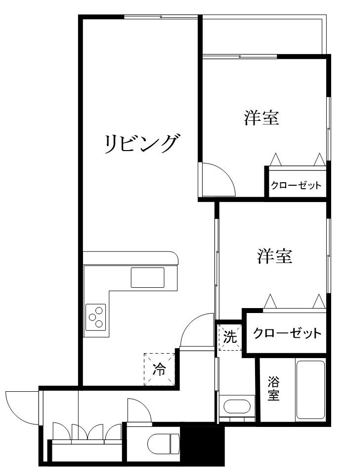 板橋区徳丸1丁目 区分マンション-間取り