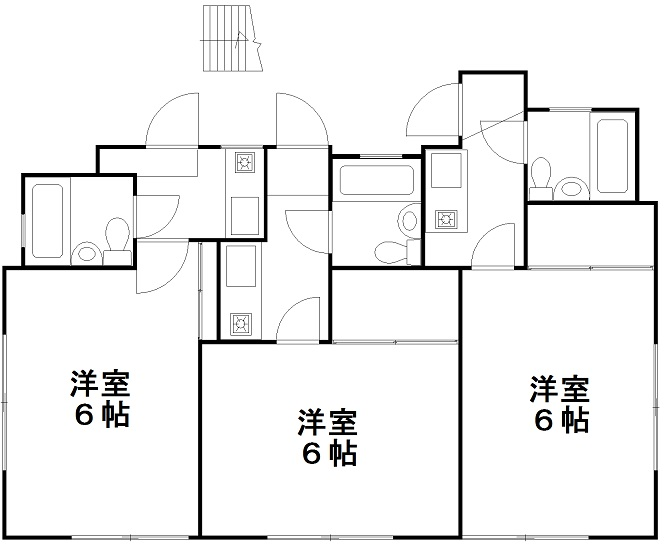 横浜市神奈川区六角橋一丁目 中古アパート-間取り