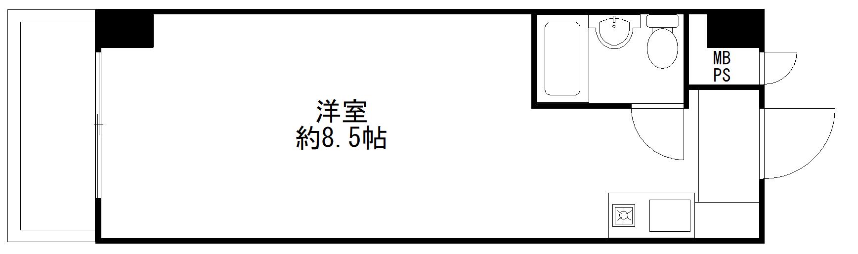 千代田区九段北1丁目 投資用区分マンション-間取り