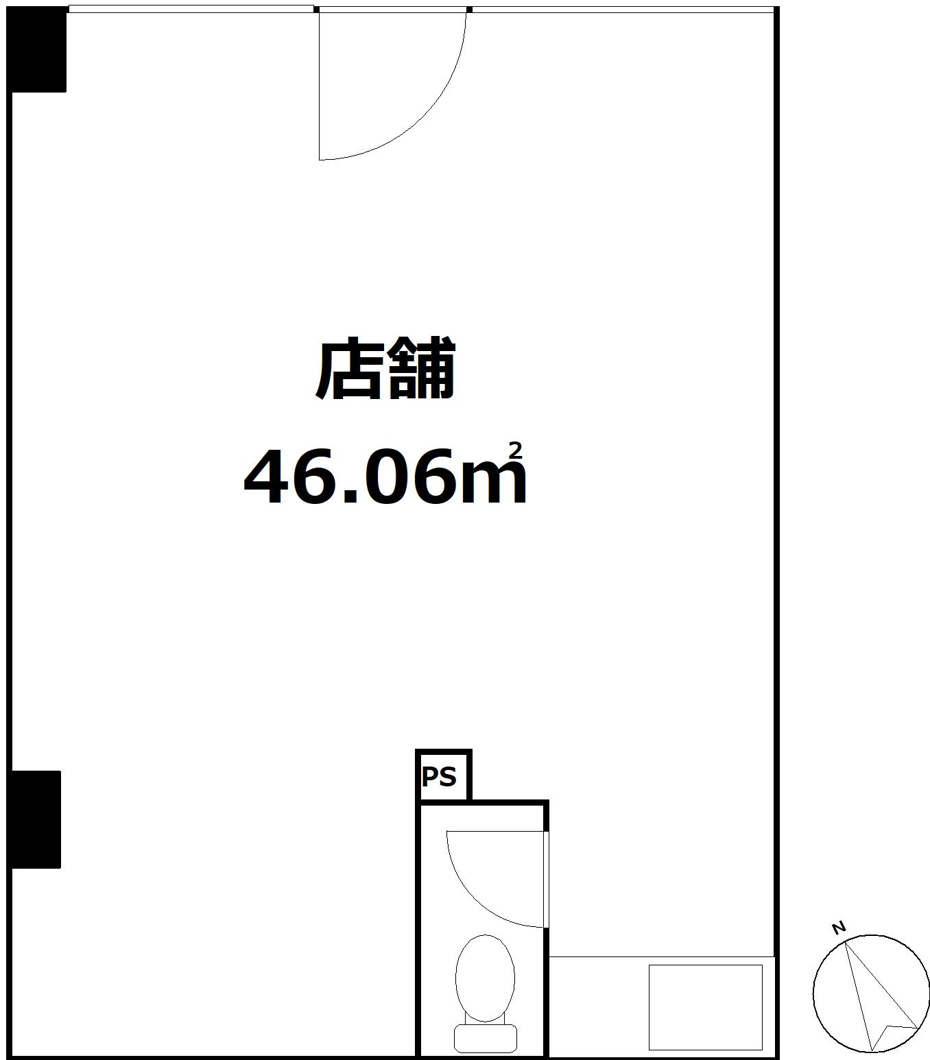 豊島区高田一丁目 投資用区分店舗-間取り
