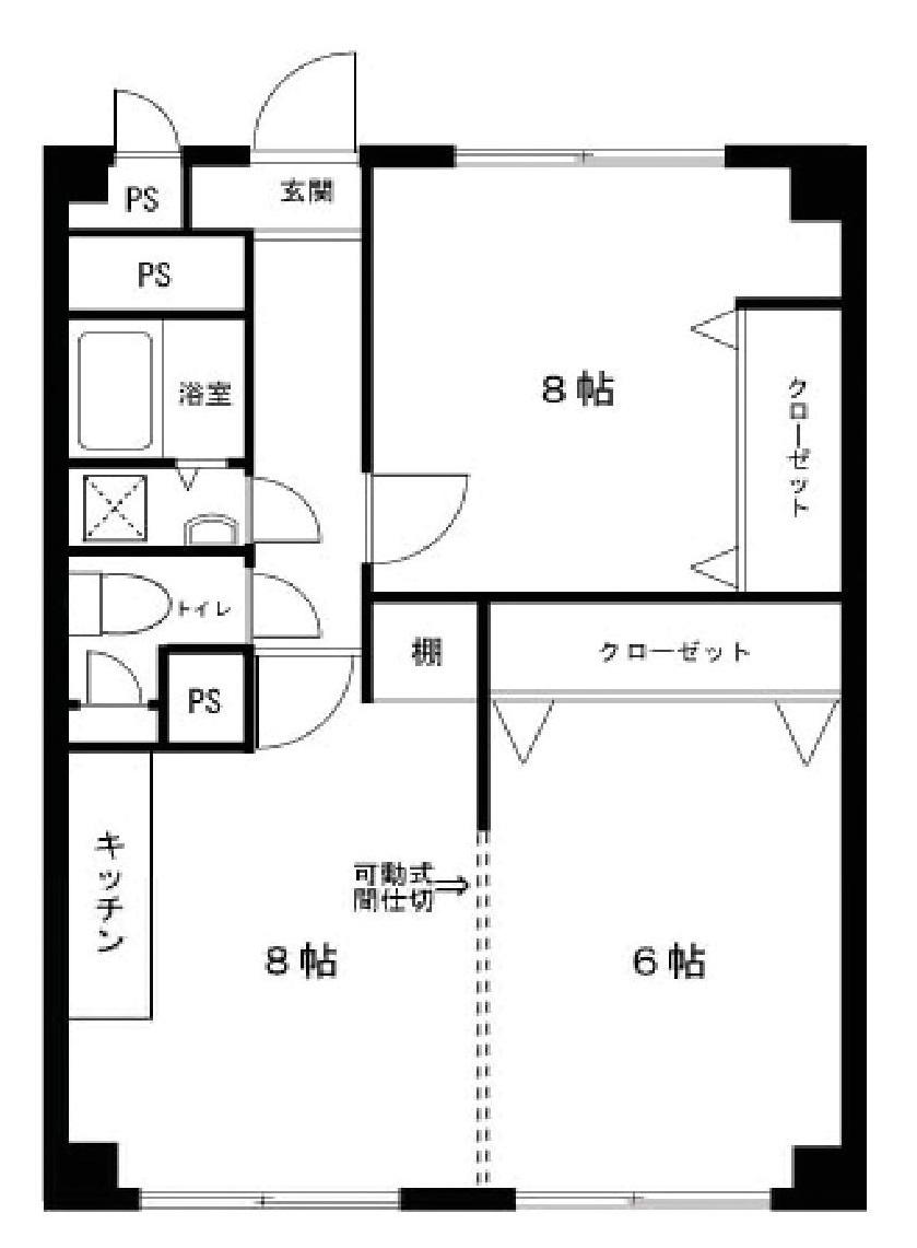 東京都武蔵野市境南町2丁目 区分マンション-間取り